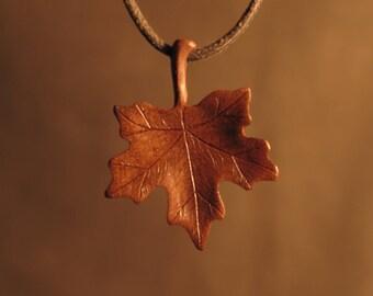 Handmade Leaf Necklace