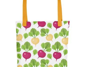 Radish Foodie Chef Gift | Cute Foodie Gift Cute Radish Tote Bag | Cute Bookbag Best Foodie Gift | Cute Foodie Bag Cute Radish Bag