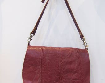 This Anne Burgundy recycled leather bag