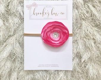 Silk Headband in Carnation