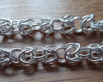 Silver plated Byzantine braclet