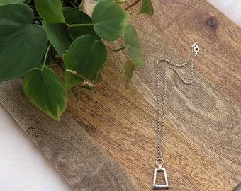 vintage geometric necklace   womens