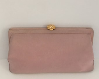 Vintage Clutch, Vintage Purse, Pink Purse, Manon Purse, Formal Purse,  1950's Purse, Gift for her, Evening bag, Gift for bride, Gift for MOB