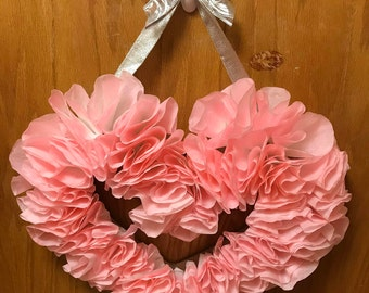 Valentine's Day Coffee Filter Wreath