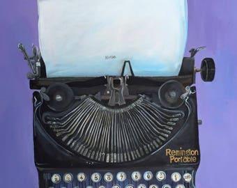 Vintage Typewriter Counted Cross-stitch Pattern - PDF Download