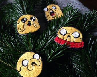 Adventure Time Jake The Dog Yellow dog New Year embroidery brooch gift for geek