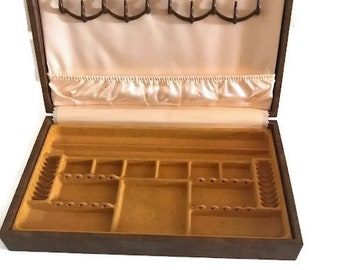 Vintage Men's Jewelry Accessories Box Cufflink Tie Tack Box Mele