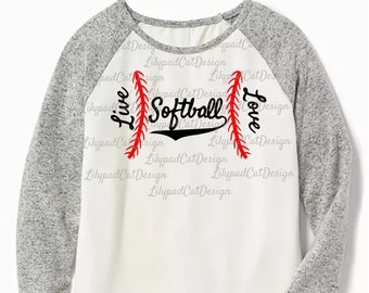 Softball SVG, Live Love softball svg,DXF PNG, sports svg, softball svg, sports svg, softball shirt, love softball shirt, softball team shirt