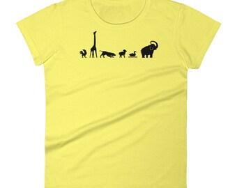Nature Lover Animals Zoo Safari T-Shirt - LIMITED Gift Tee - Women's short sleeve tshirt