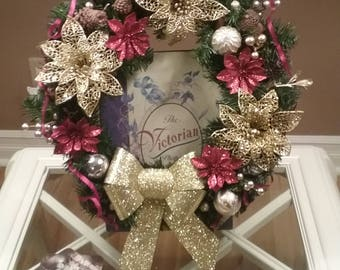 Unique Holiday Wreath With Bow