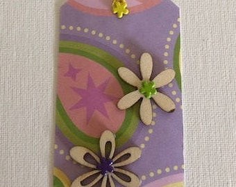 Purple Flower Gift Tag