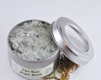 The Sun Magical Sugar Scrub - all natural sugar scrub, promotes luck and prosperity -spa gift -relaxation - modern wicca-botanical