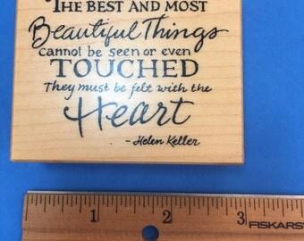 Helen Keller Quote Rubber Stamp