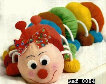 Caterpillar Cotton handmade cloth, game numerical/alphabetic children,