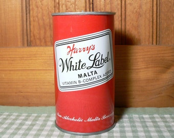 Vintage Harry's White Label Beer Can Candle, beer scented candle, soy candle