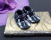 Dancing Skeletons: Soft Sole Baby Shoes 3-6M