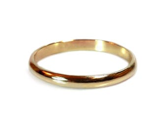 Stacked Ring - Brass Stacked Ring - Half Round Ring - 2mm Ring - Custom Stacked Rings - Golden Ring - Brass Band - Andyshouse - Made in BKLN