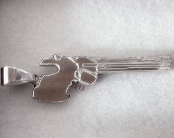 Olympic Air Pistol pendant, 162 Morin pistol,Olympic air rifle, Gun pendant, rifle, shotgun, sterling silver neckclace ,initials, men