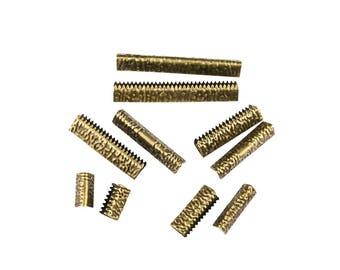 16pcs. Antique Bronze - No Loop Ribbon Clamp Crimp Ends - Artisan Series
