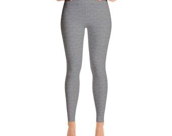 Pellerina gray cloth Yoga Leggings.. athletic pants.. leggings.. womens