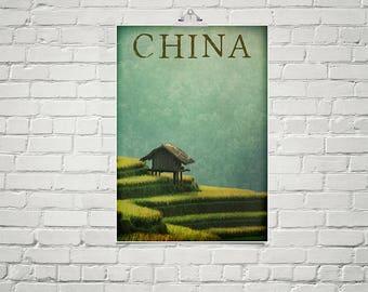 China Art 18x24 Poster Fine Art Print Asian Art Chinese Landscapes Zen Art Decor Relaxation
