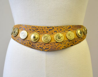 1990s Leatherock Studded Leather Belt