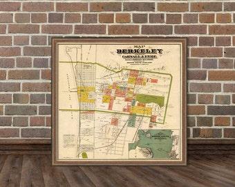 Berkeley  map - Old map of Berkeley (CA)