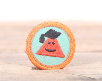 """Vintage Girl Scout Patch / 1970's-80's Scout Patch / Orange Patch Old Stock / 1.5"""" Girl Scouts Patch / Scout Badge"""