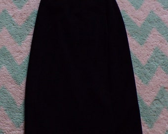 black BLASSPORT WRAP SKIRT melton midi S bill blass
