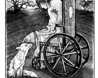 """Beloved Animal (A Wish That I May Come Amongst You) - 8.5""""x11"""" Print by MANDEM - Folklore, Legends, Fairytales, Magic, Kitsune, Tarot Cards"""