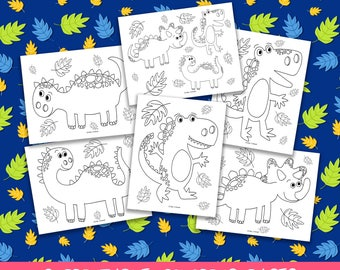 Dinosaur Coloring Pages, Printable Coloring Pages, DInosaur Birthday Party Activity, Boys Birthday Party, Kids Coloring Pages