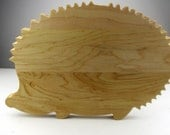 """Cute Hedgehog Cutting Board - Maple - """"I'm not damaged, I'm special.  Take me home, please."""""""