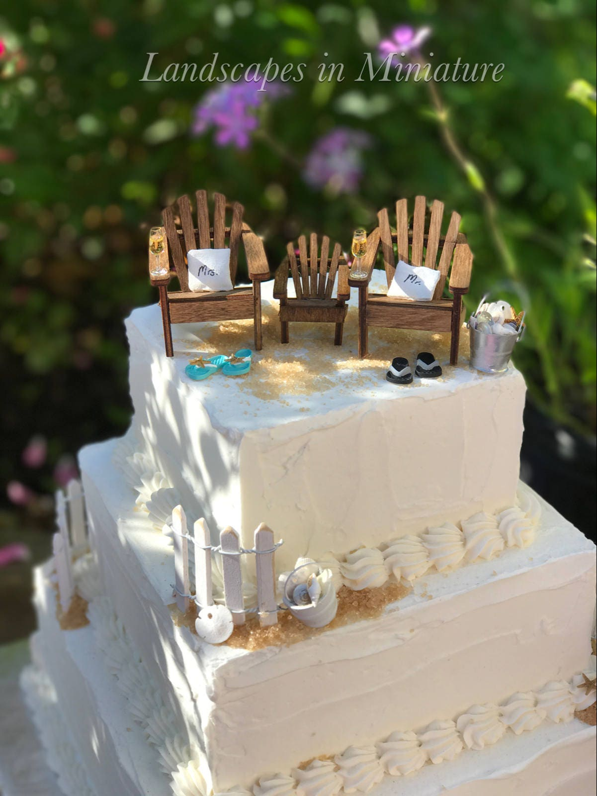 BLENDED FAMILY Beach Theme Wedding Cake Topper Include your