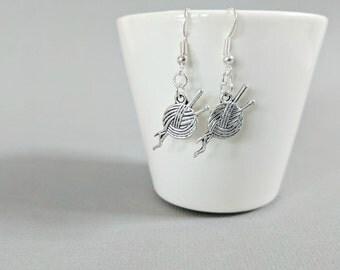 Crochet Earrings, Knitting Earrings, Sewing Earrings, Crafting Earrings, Hobby Earrings, Crochet Jewellery, Knitting Jewelry, Sewing Jewelry