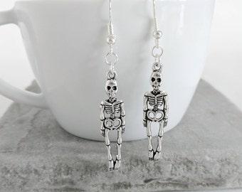 Skeleton Earrings, Halloween Earrings, Skeleton Jewellery, Halloween Jewellery, Skeleton Jewelry, Halloween Jewelry, Halloween Costume
