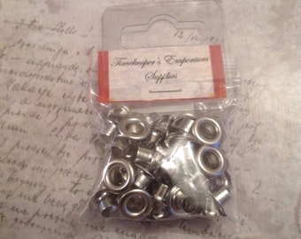 Silver Nickel Eyelet 1/4 inch (6mm) for Leather work.