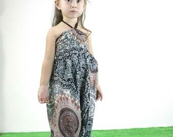 Children Harem Pants mandala Pants Thai Pants Rayon Pants Boho Pants Elastic Waist Baggy Beach Casual wear for kids 2 - 4 years