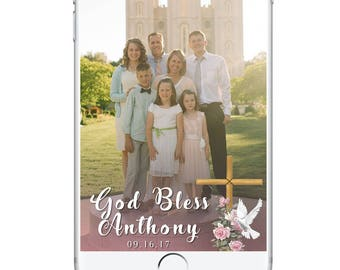 Baptism Snapchat Geofilter, Christening, Baptism Party Geofilter First Communion, Confirmation Snapchat Geofilter Girl Boy God Bless Party