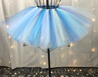 Mermaid Glitter Tutu - Sparkle Gold, Blue & Lavender Tutu - Available in Infant, Toddlers, Girls, Teenager, Adult and Plus Sizes