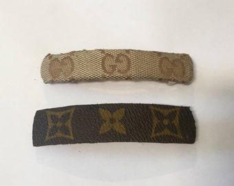 Gucci or Luis Vuitton Hair Barrettes Made in France