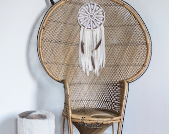 Boho dream catcher with ivory lace,