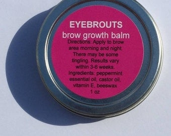 Eyebrow Growth Balm -Stimulate Brow Growth-Conditions-Thickens-Brow Balm-Fuller Healthy Eyebrows-No Harmful Chemicals-Affordable