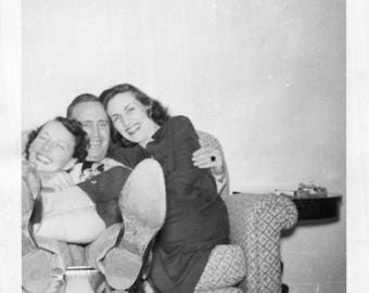 Vintage Photo..The Lothario or Shoe, 1950's Original Found Photo, Vernacular Photography