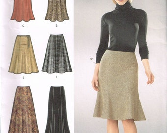 Size 6-14 Misses' Skirt Sewing Pattern - Knee Length Flared Skirt Pattern - Trumpet Skirt Pattern - Long Skirt Pattern - SImplicity 1560