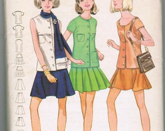 Butterick 5553 Young Junior/Teen & Misses Two Piece Dress and Scarf SIZE 12