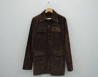 Tara Jarmon Jacket Women Size S/M Tara Jarmon Suede Jacket Tara Jarmon Casual Leather Jacket Made in France Size 38