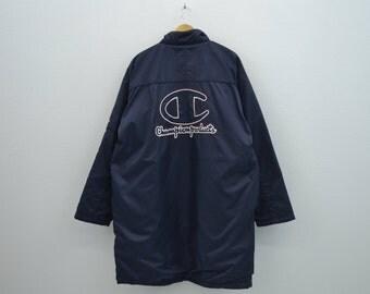 Champion Windbreaker Men Size L Vintage Champion Jacket 90s Champion Vintage Casual Parka