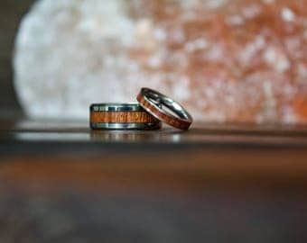 Wooden Ring, Couple Rings, Tungsten Carbide Ring, Mens Ring, Womens Ring, Wedding Band, Wood Rings, Personalized Ring, Wood Wedding Band