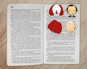 Stephen King Bookmarks - Pennywise and Jack Torrance It and The Shining Clips