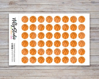 Basketball Stickers | Sports Stickers | Planner Stickers | The Nifty Studio [102]